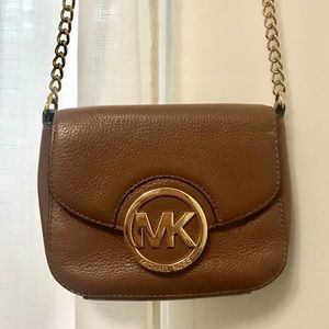 Michael Kors Cognac Crossbody Purse